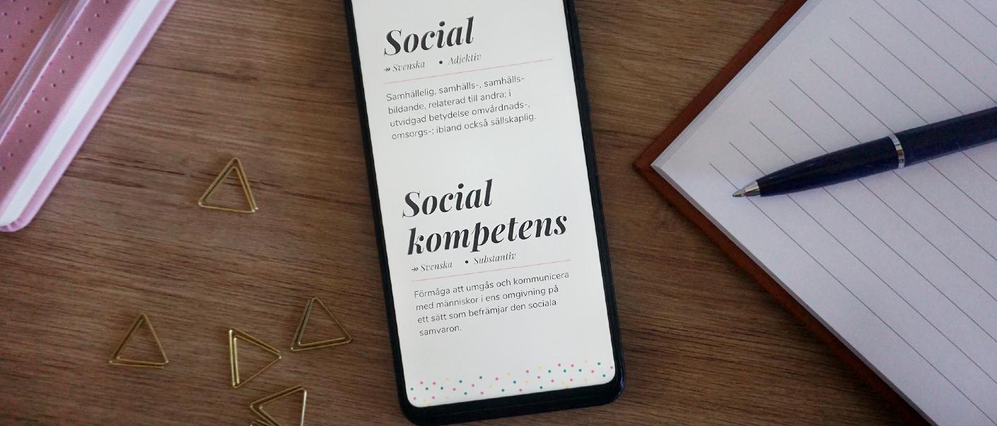 Skillnaden på social och social kompetens